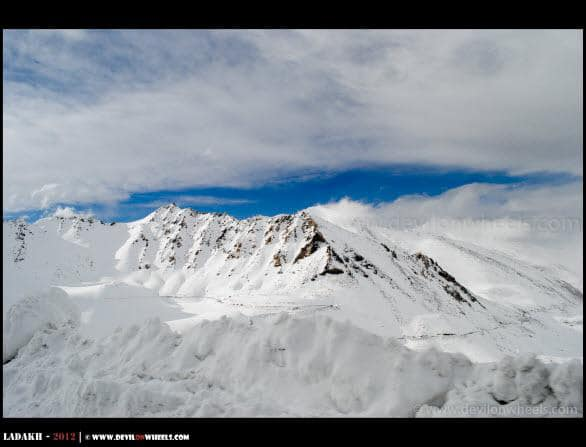 An Ocean of Snow at Khardung La Pass