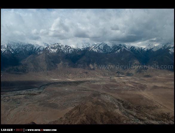 Approaching Leh - Ladakh... An Aerial View...