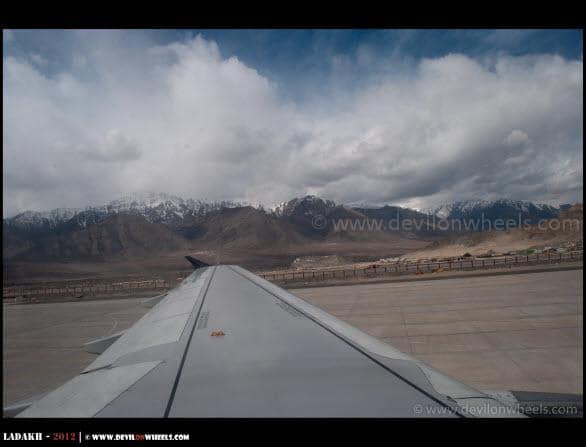 Finally at Leh Airport...