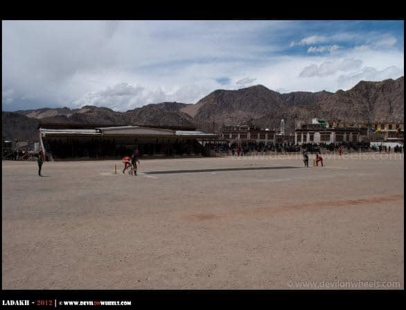 Playing Cricket at Highest Playground of the World...