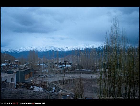A View of Stok Kangri from Glacier View Guest House...