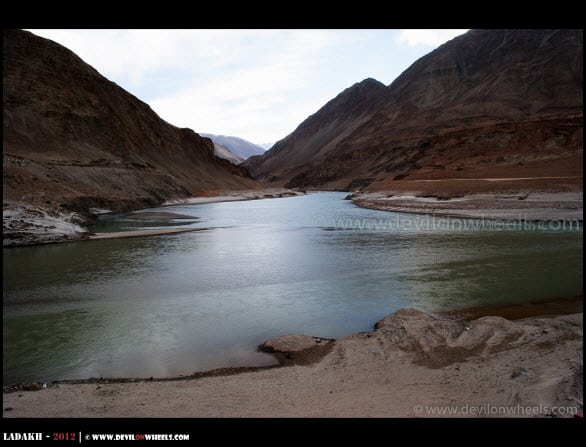 Confluence of Zanskar and Indus Rivers...