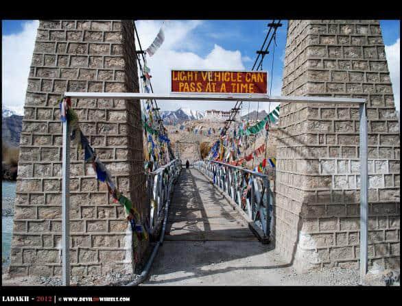 Bridge to Stakna Monastery...
