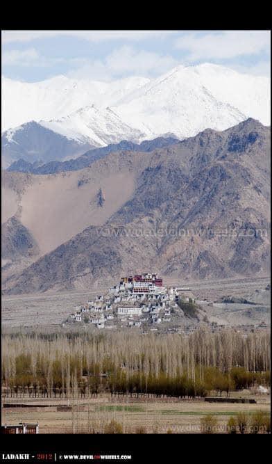 Thicksey Monastery as Seen from Stakna Monastery...