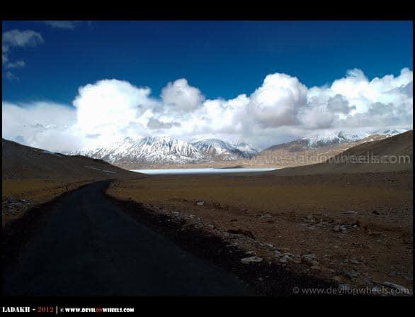 Leading the way to Frozen Kiagar Tso Lake