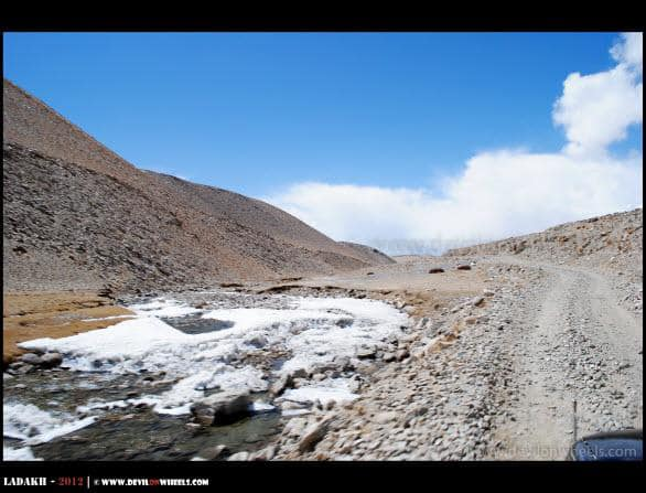 Frozen and Barren Way to Tso Moriri Lake
