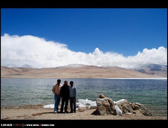Dheeraj Sharma and Friends at Tso Moriri Lake...