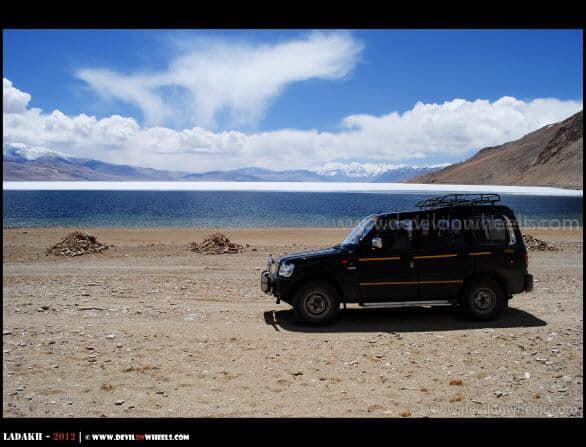 Colors of Tso Moriri Lake and Our Ride...