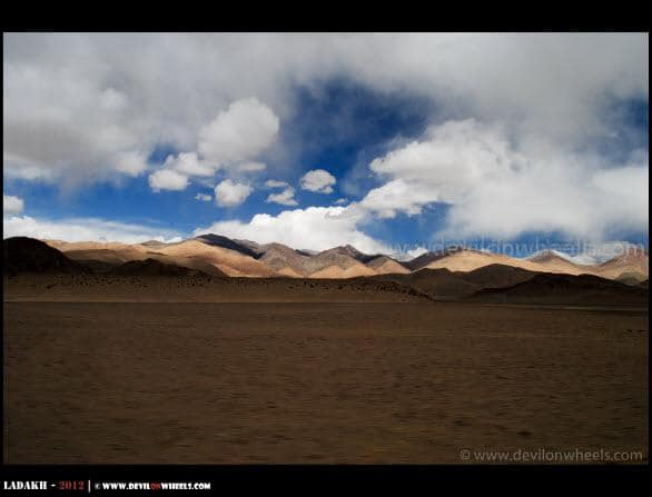 The Light Play on the way to Hanle