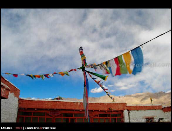 Bonding Together... The Prayer Flags at Hanle Monastery