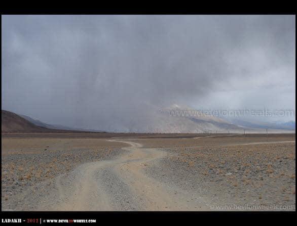 Pangong Tso to Tso Moriri Road in Changthang in Ladakh