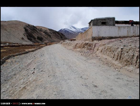 A Direct Road from Chusul to Tso Moriri under construction