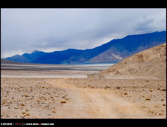 Pangong Tso Lake, The First View from Chusul Side...