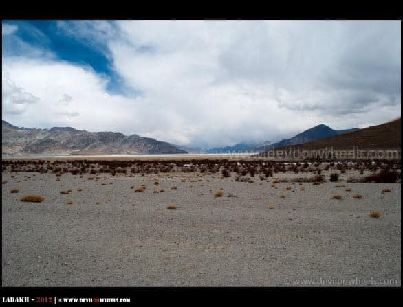 As Pangong Tso Goes Into Tibet Here
