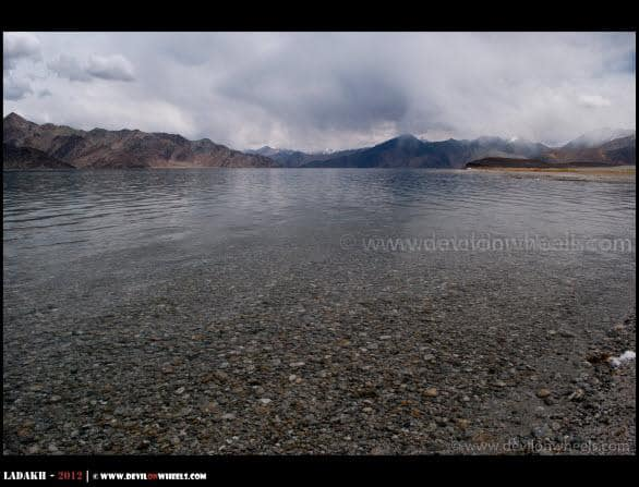 As Pangong Tso Goes Into Tibet Here...