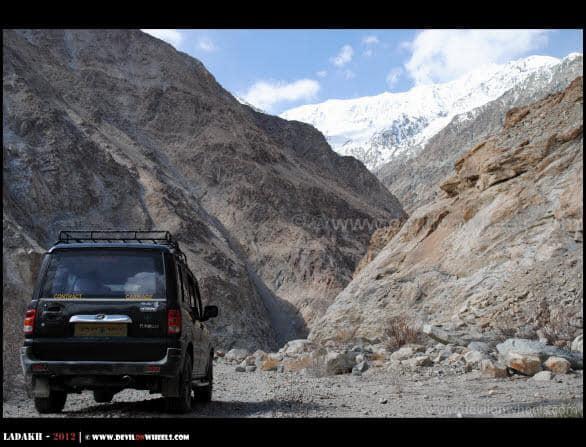 Scorpio on Shyok Village Route