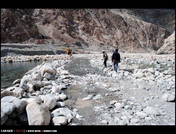 Shyok River on Roads... The Inspection Time