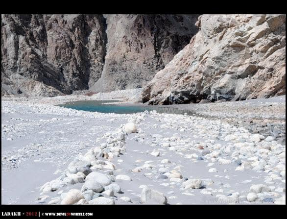 Shyok River on Roads... One More Obstacle Ahead