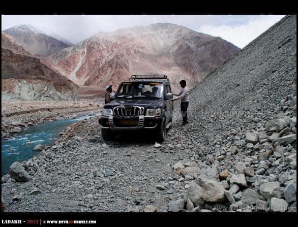Deadly Live Landslide Zone on Shyok Village Route