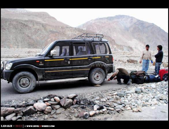 Flat Tyre on Shyok Village Route...