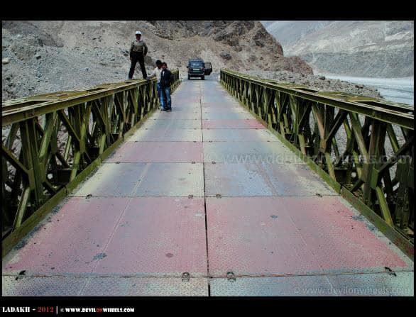 Dheeraj Sharma enjoying over a Bridge near Agham Village