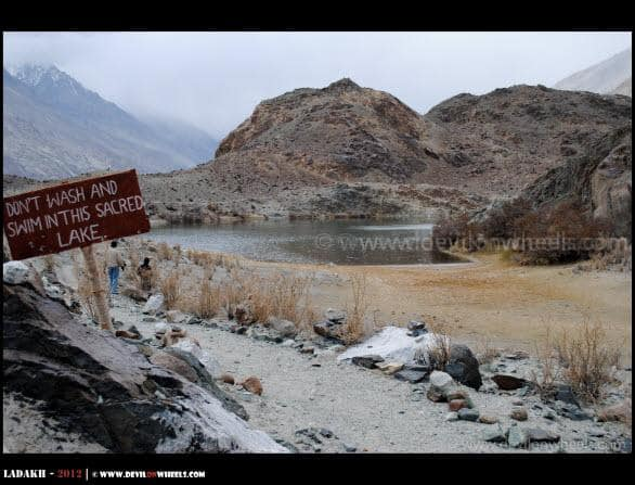 Sacred Yarab Tso Lake near Panamik in Nubra Valley