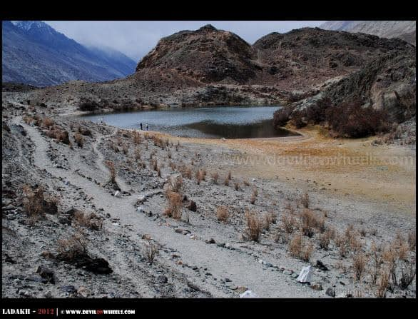 Sacred Yarab Tso Lake near Panamik in Nubra Valley