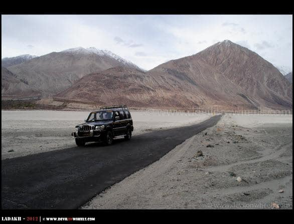 Beautiful Nubra Valley... A Road Leading to Deskit - Hunder