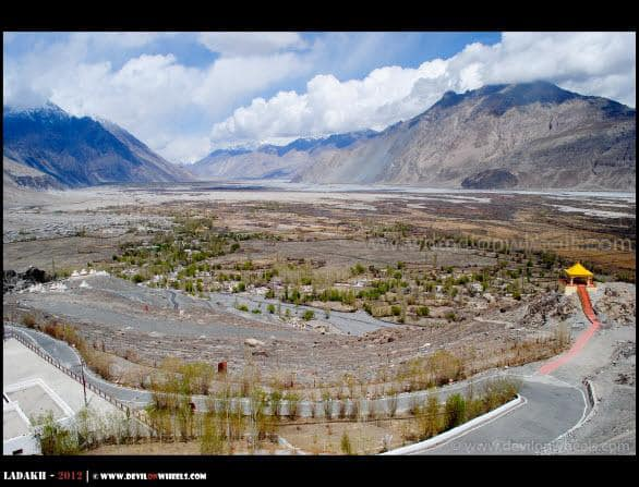 Beautiful Deskit Village in Nubra Valley