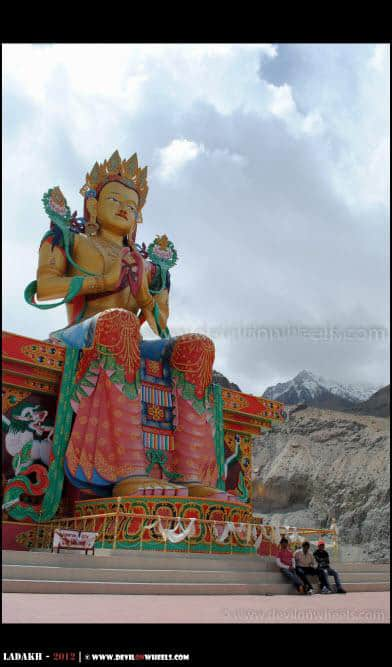 106 Feet Tall Lord Buddha at Deskit - Nubra Valley