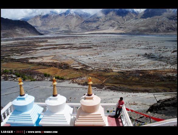 Himanshu at Deskit Monastery