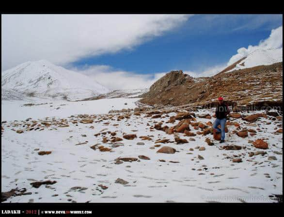 Dheeraj Sharma on the way to Khardung La