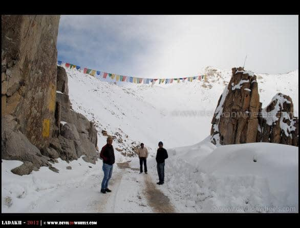 Dheeraj Sharma with friends at India Gate but in Ladakh Near Khardung La Pass