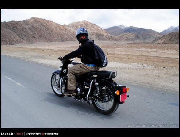 Himanshu while Riding