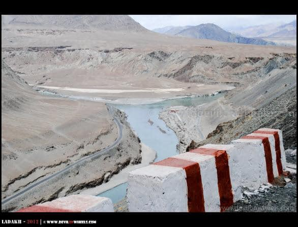 Confluence of Zanskar and Indus River