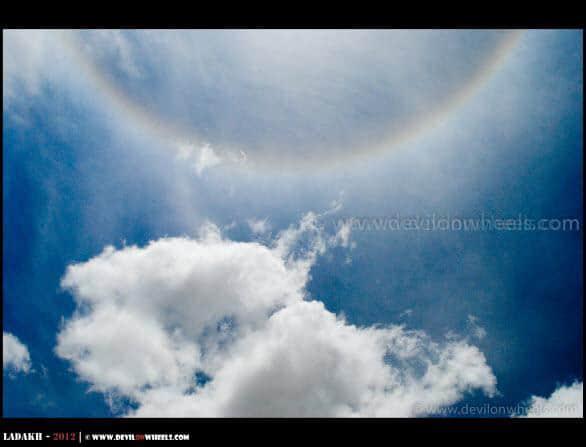 A Rainbow near Chilling - Ladakh