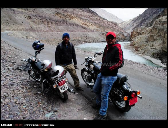 Dheeraj Sharma while Riding from Leh to Chilling