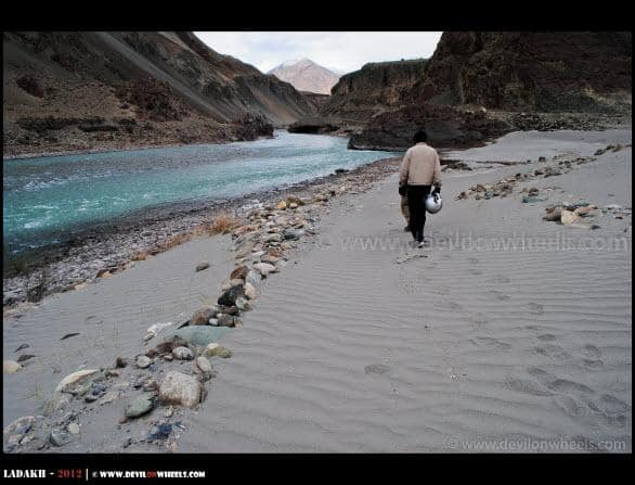 Shores of Zanskar River