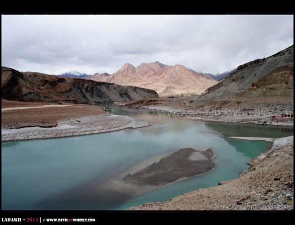 Confluence of Zanskar and Indus River... The Other Side...