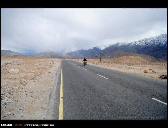 Dheeraj Sharma riding near Basgo Plains