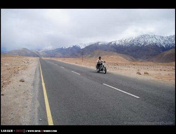 Tejas riding near Basgo Plains