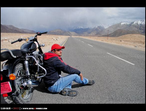 Dheeraj Sharma near Basgo Plains in Ladakh