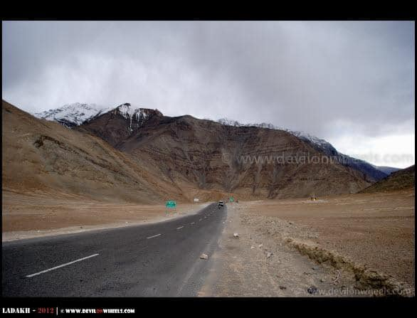 Magnetic Hill in Ladakh near Leh