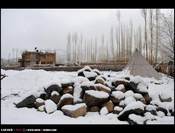 A Snow Whiteout in Leh