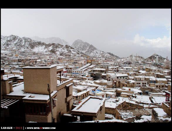 A view of Leh in winters
