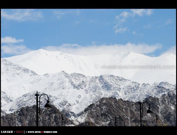 Khardung La Range as seen from Leh Airport