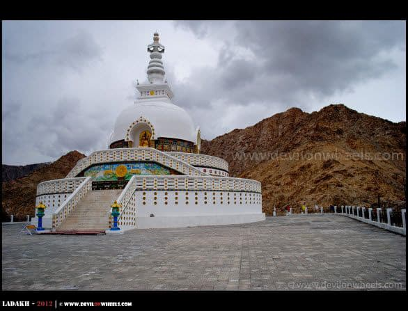 The Symbol of Peace... Shanti Stupa in Leh