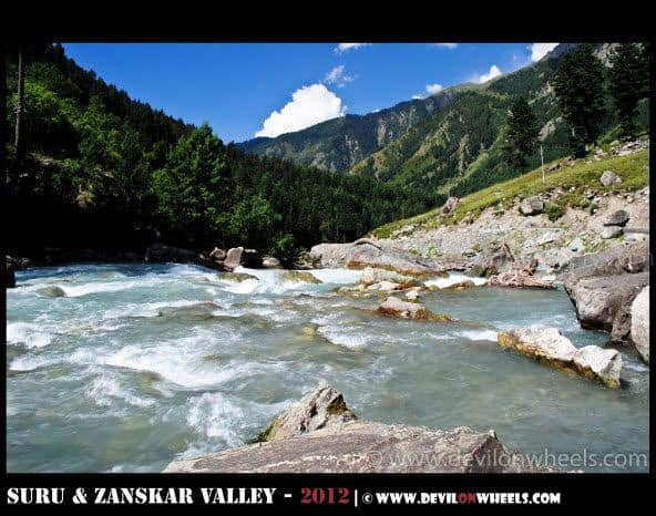 Musical flow of Sindh River near Sonamarg