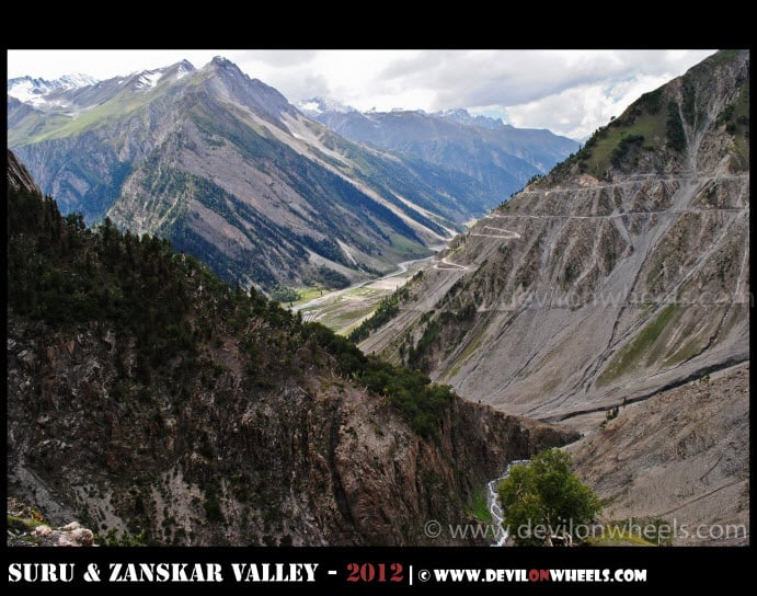 The Switch Backs of Zozi La Pass on Srinagar - Kargil Highway