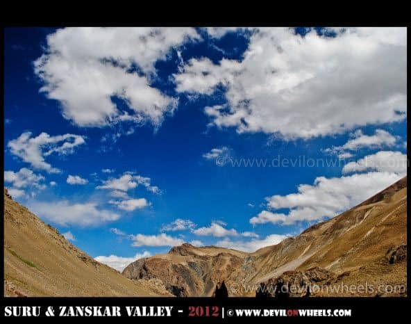 Cotton Clouds on Srinagar - Kargil Highway